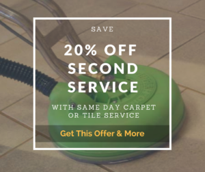 20% off coupon with same day carpet cleaning services sign up