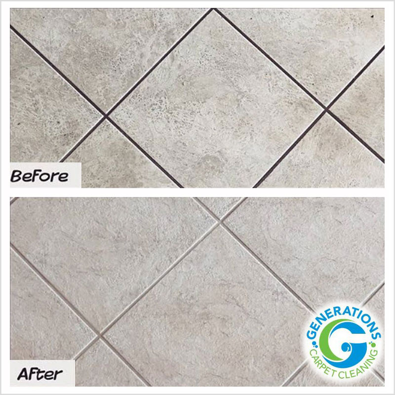 Tile and Grout cleaning - Generations Carpet Cleaning