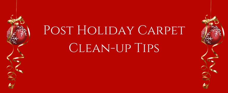 Post Holiday Carpet Clean-up Tips